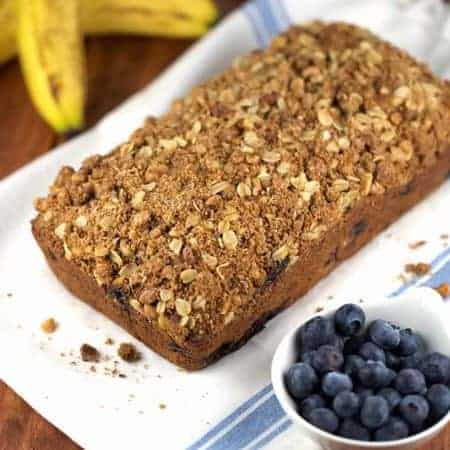 Whole Wheat Vegan Blueberry Banana Bread