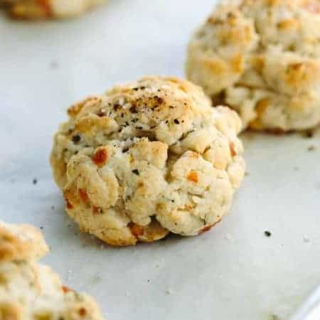 Rosemary Parmesan Drop Biscuits