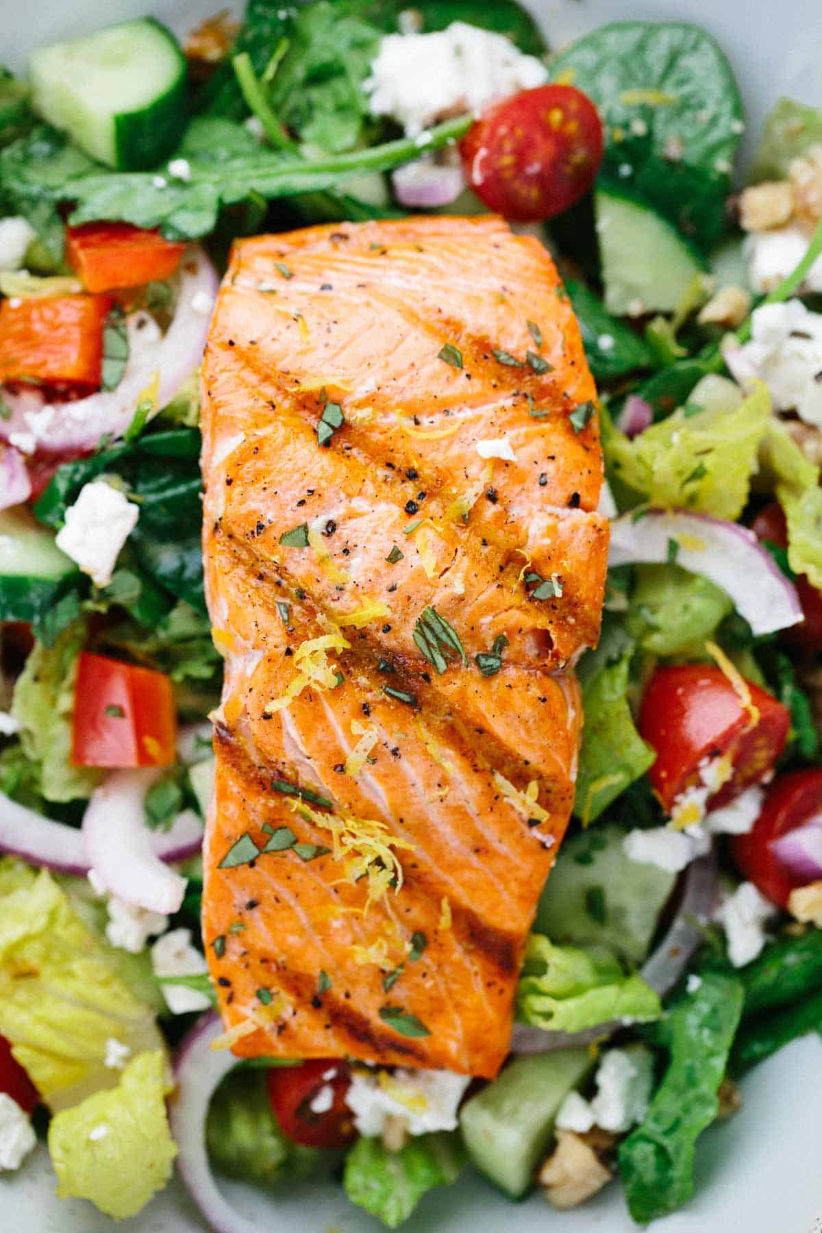 Glazed Salmon on Greens and Orange Salad forecast