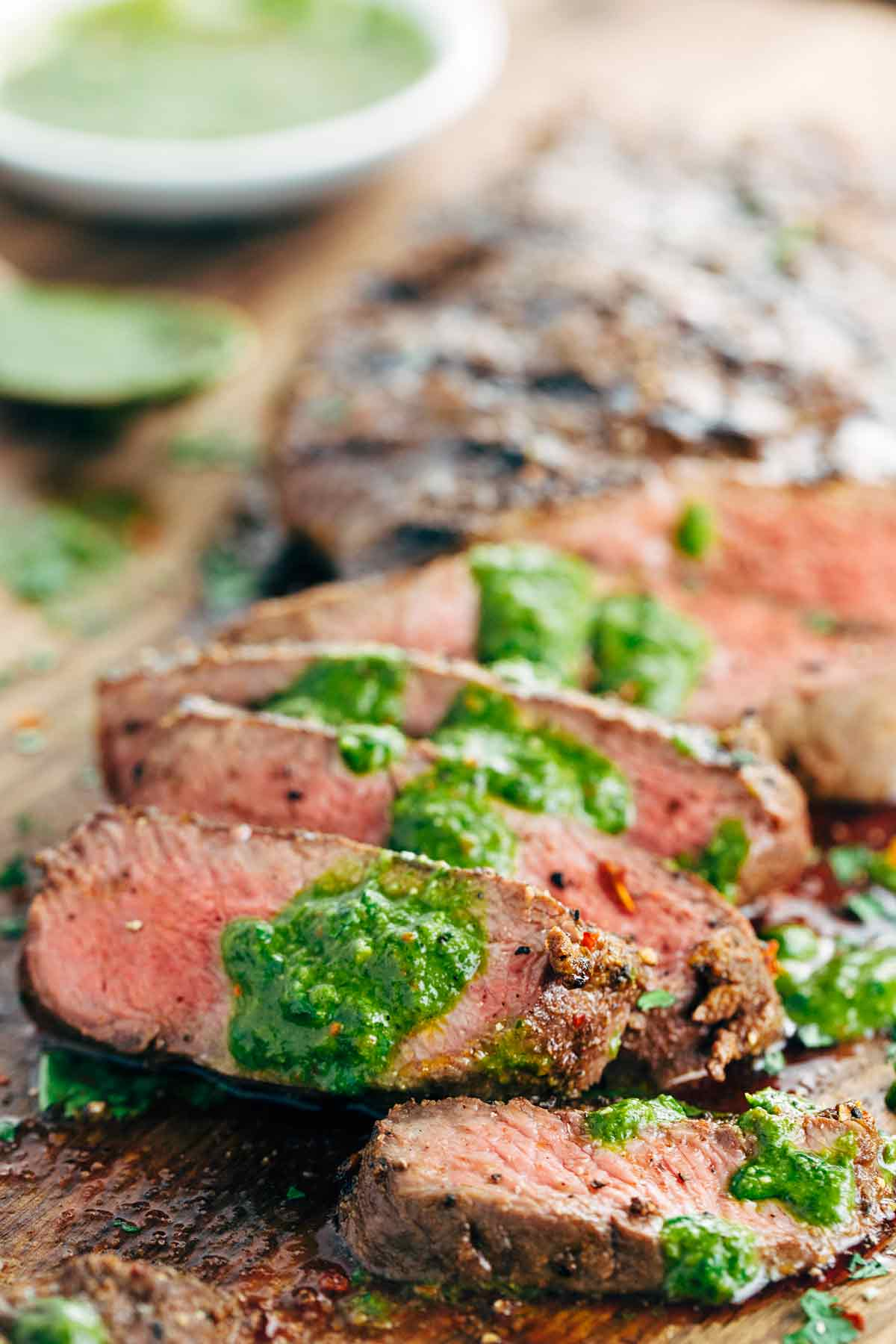 Recipe for Grilled Flat Iron Steak with Chimichurri Sauce ...