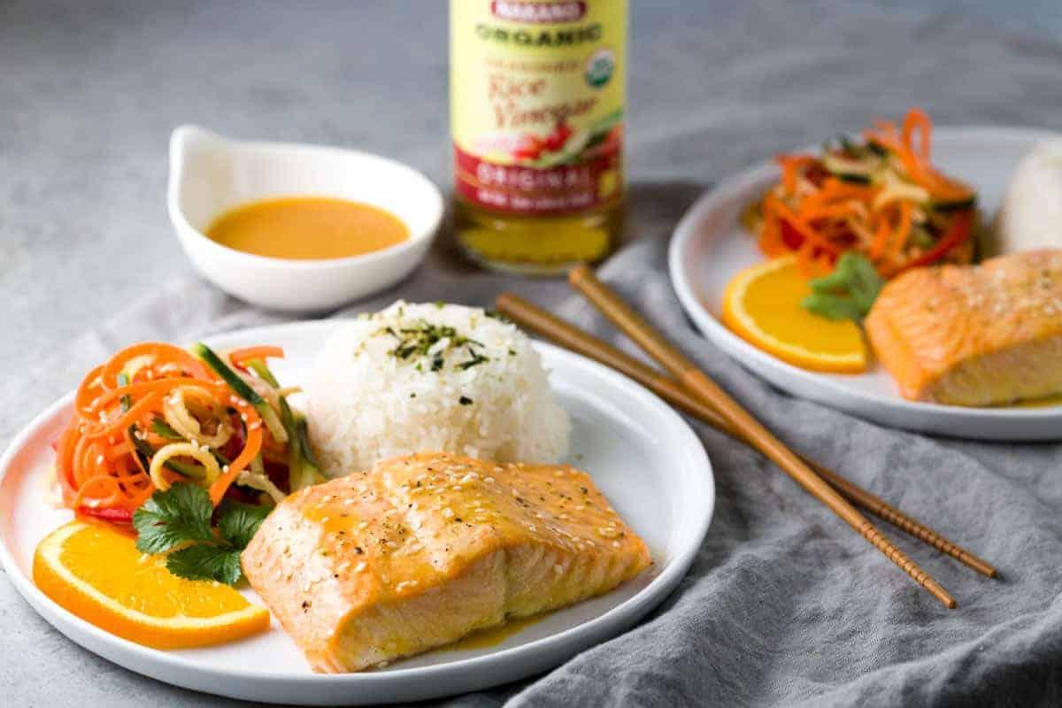 This recipe uses Nakano rice vinegar