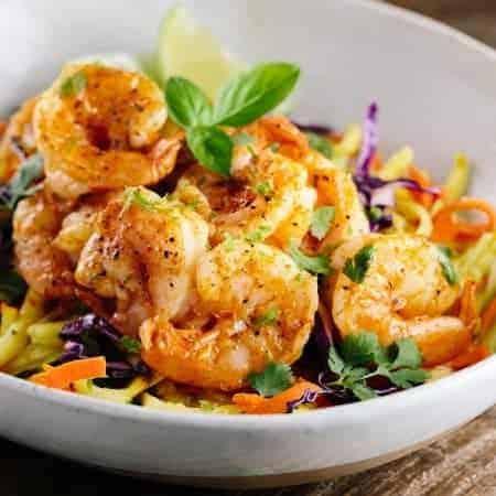 Thai Spiced Shrimp with Vegetable Noodles