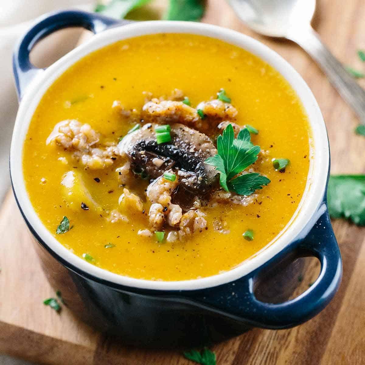 Rustic Italian Butternut Squash Soup Recipe