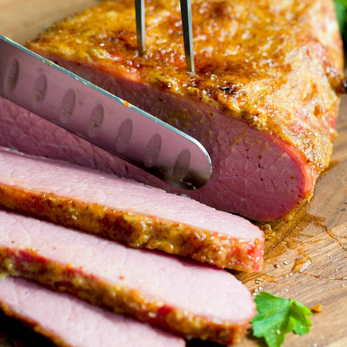 Oven-Baked Honey Mustard Corned Beef