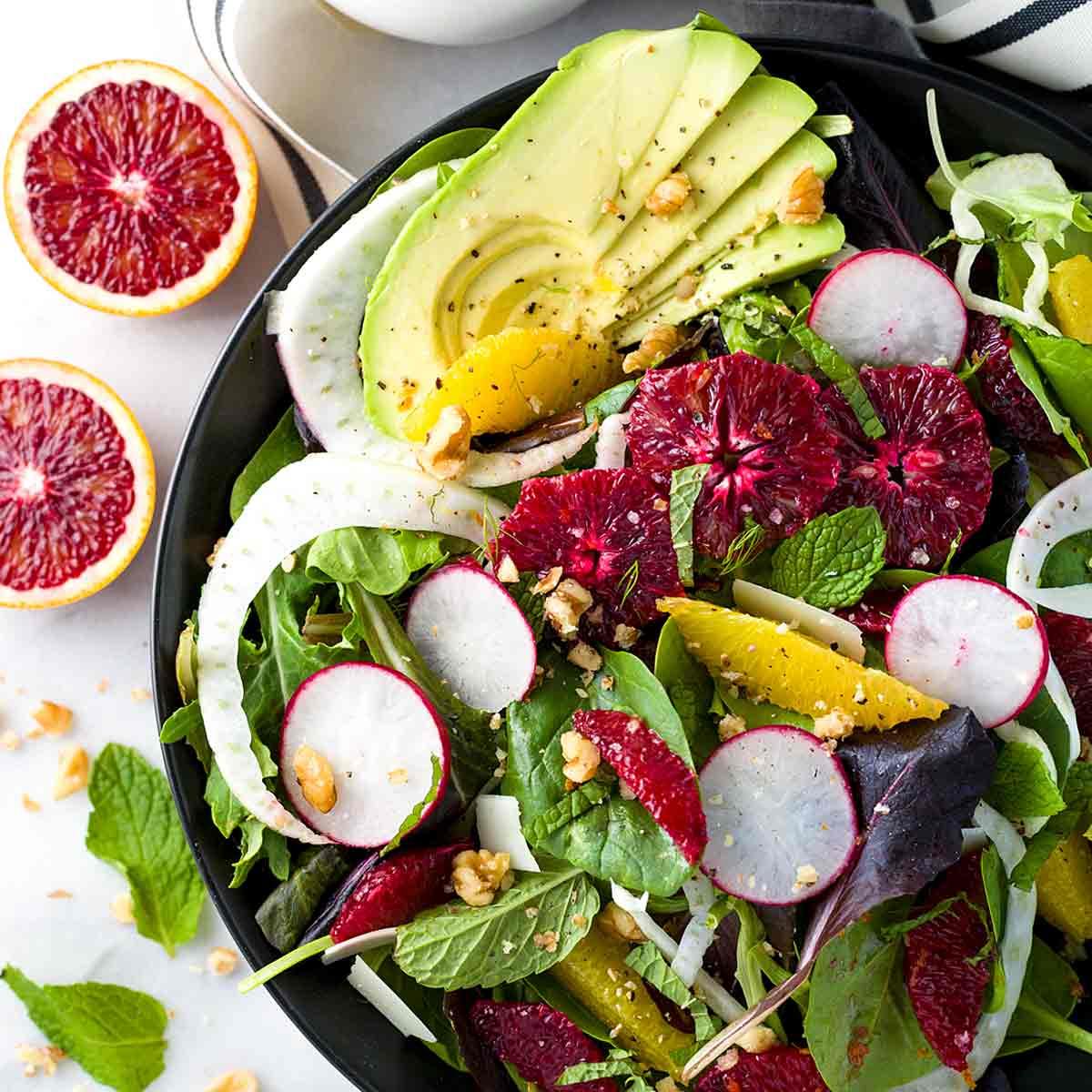Healthy Fennel Salad With Blood Orange