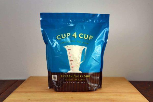 A bag of Cup 4 Cup gluten free flour alternative