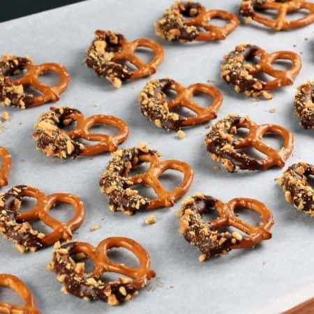 Chocolate Almond Pretzels