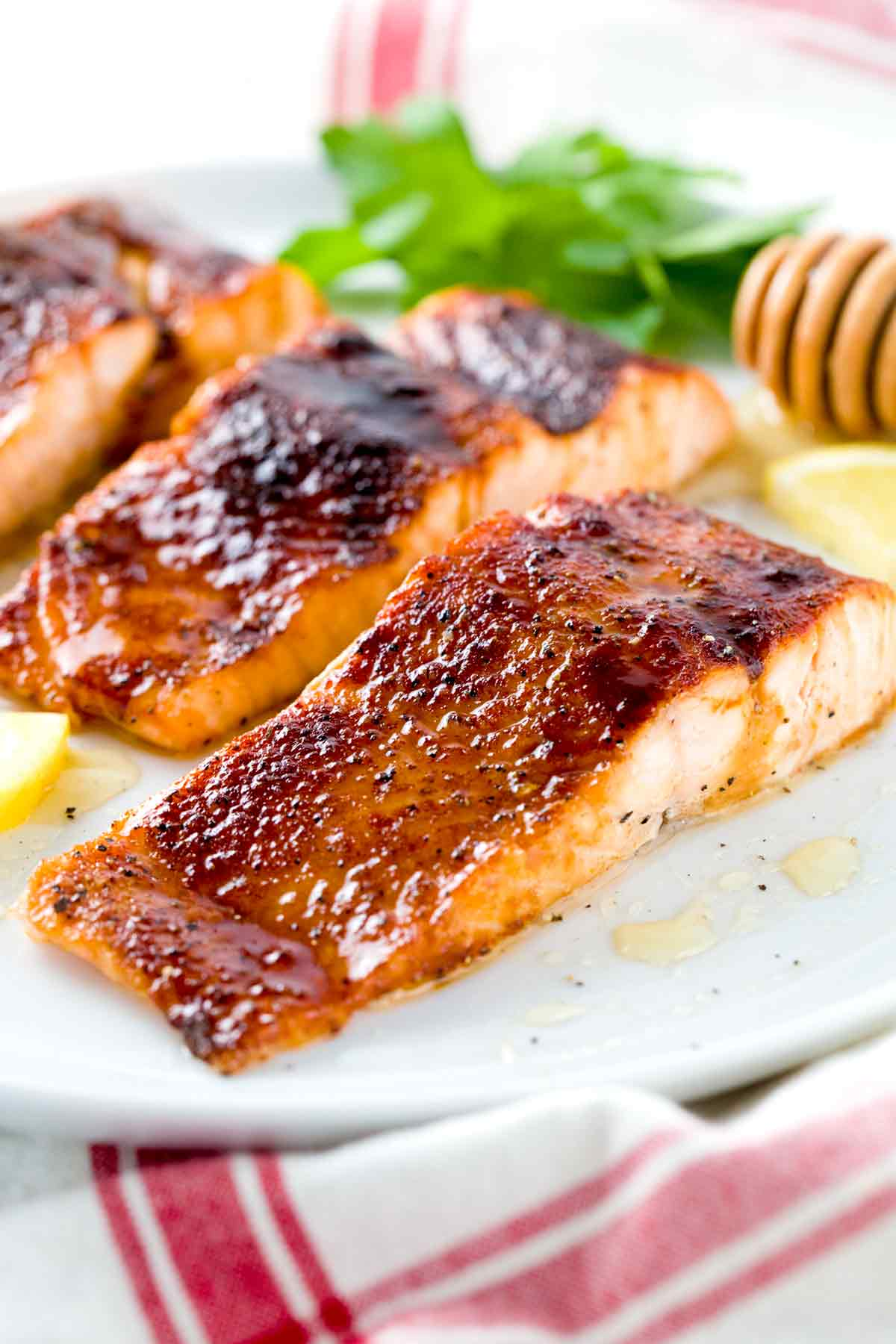 Broiled Salmon With Molasses Glaze Jessica Gavin