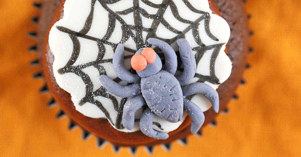 Fun Spooky Spider Web Halloween Cupcakes Recipe | Jessica ...