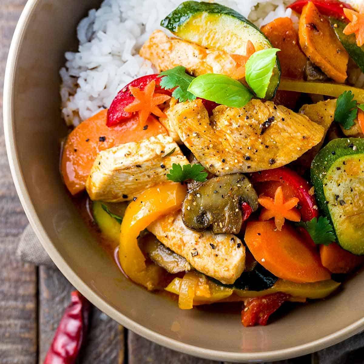 Thai Chicken Curry With Coconut Milk Jessica Gavin