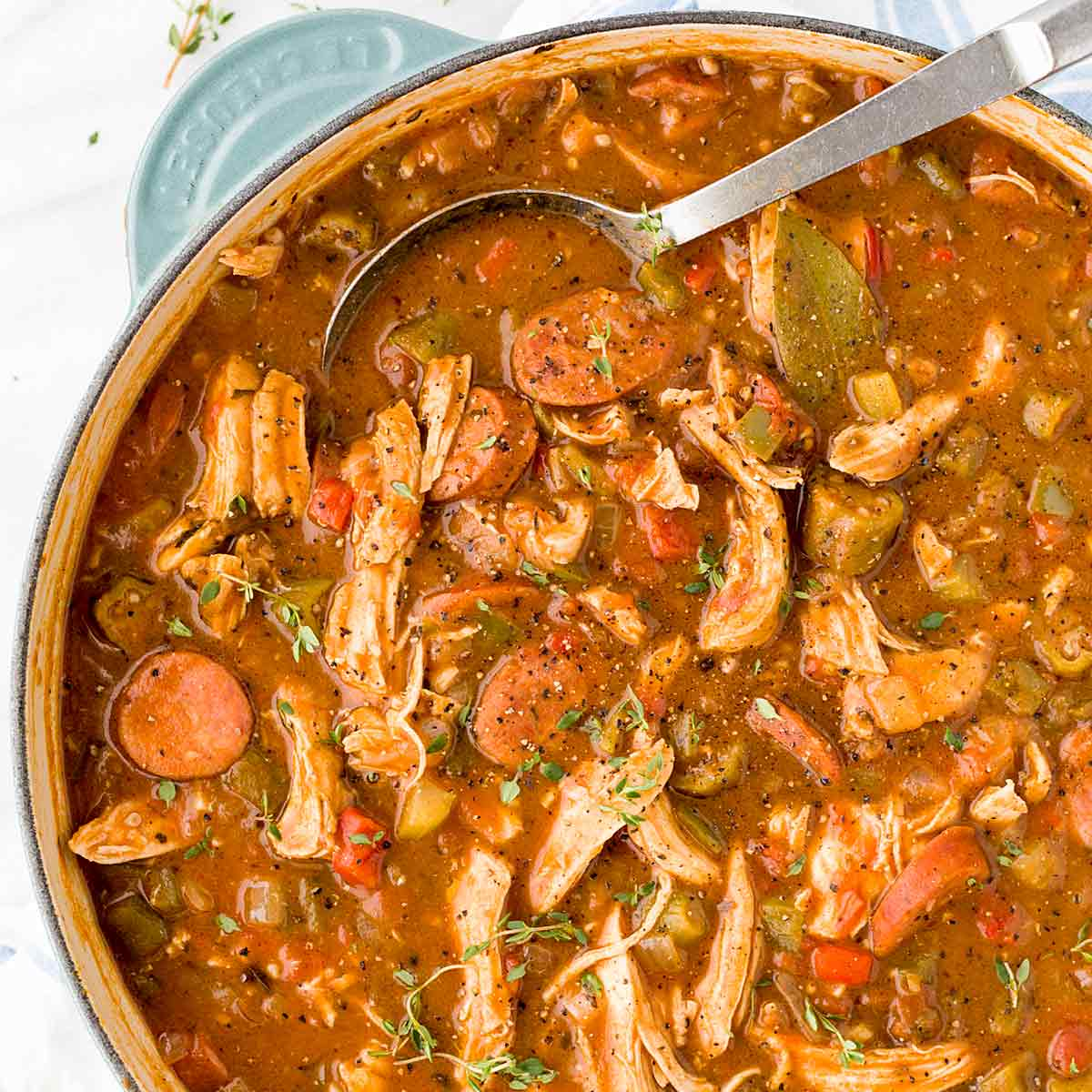 New Orleans Chicken Andouille Sausage Gumbo | Jessica Gavin