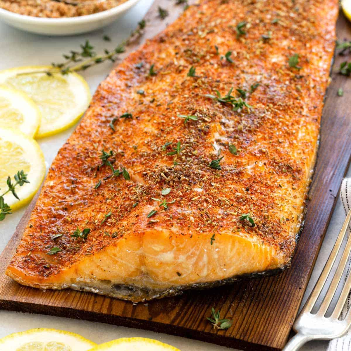 Grilled Cedar Plank Salmon Jessica Gavin