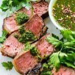 Strip Steak with Chimichurri Sauce