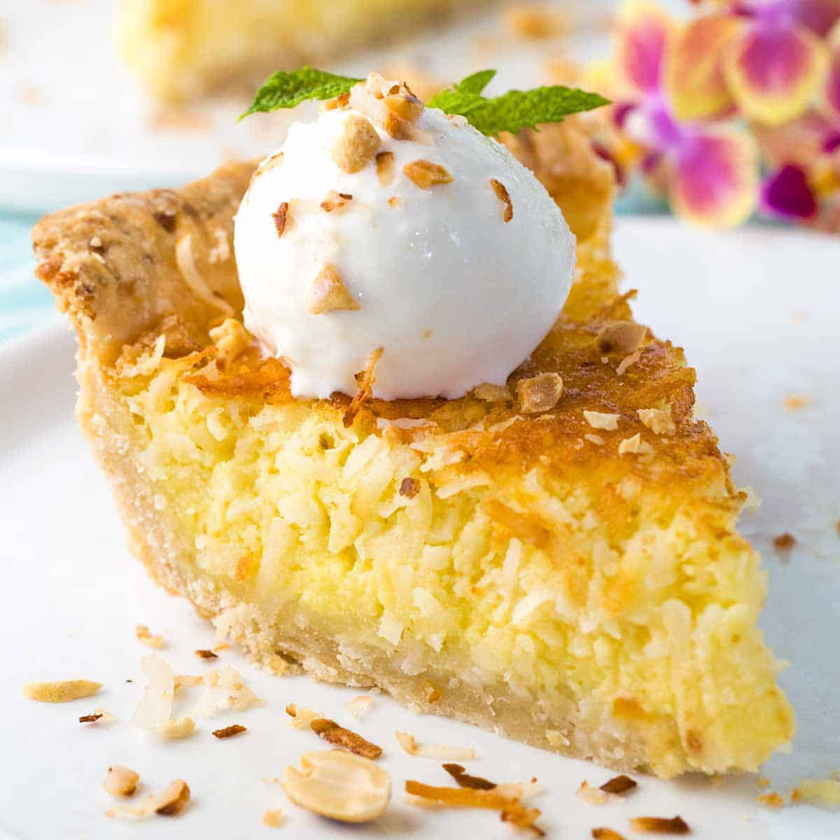 Coconut Custard Pie Recipe Jessica Gavin