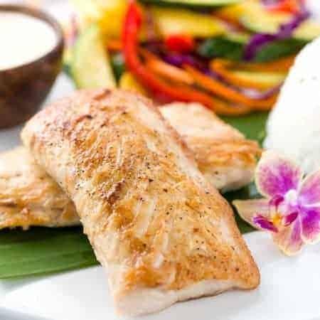 Mahi Mahi with Tahitian Vanilla Sauce