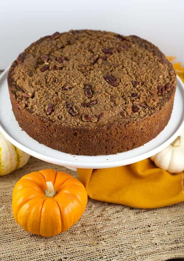 delicious pumpkin pecan streusel coffeecake