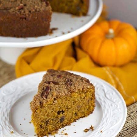 Pumpkin Pecan Streusel Coffee Cake