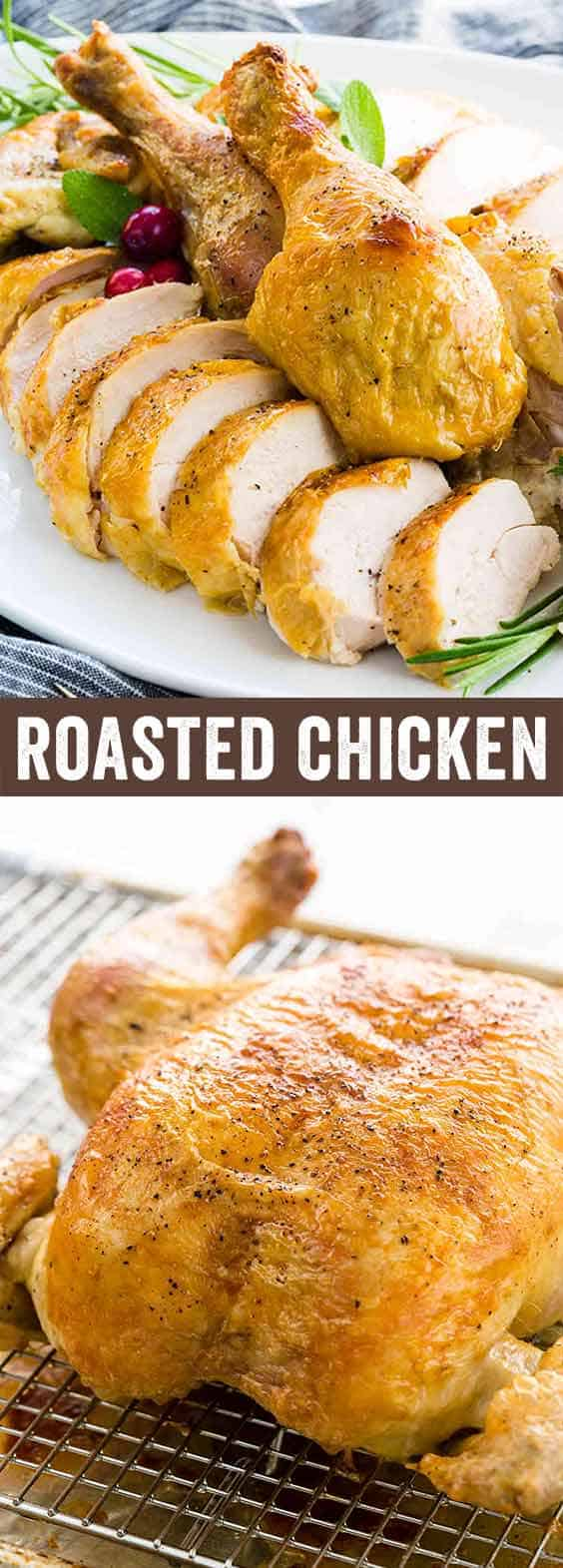Dry brined with herbs, this butterflied roasted chicken is super flavorful and juicy! Using the spatchcock technique allows for even cooking in less time than a traditional roast.