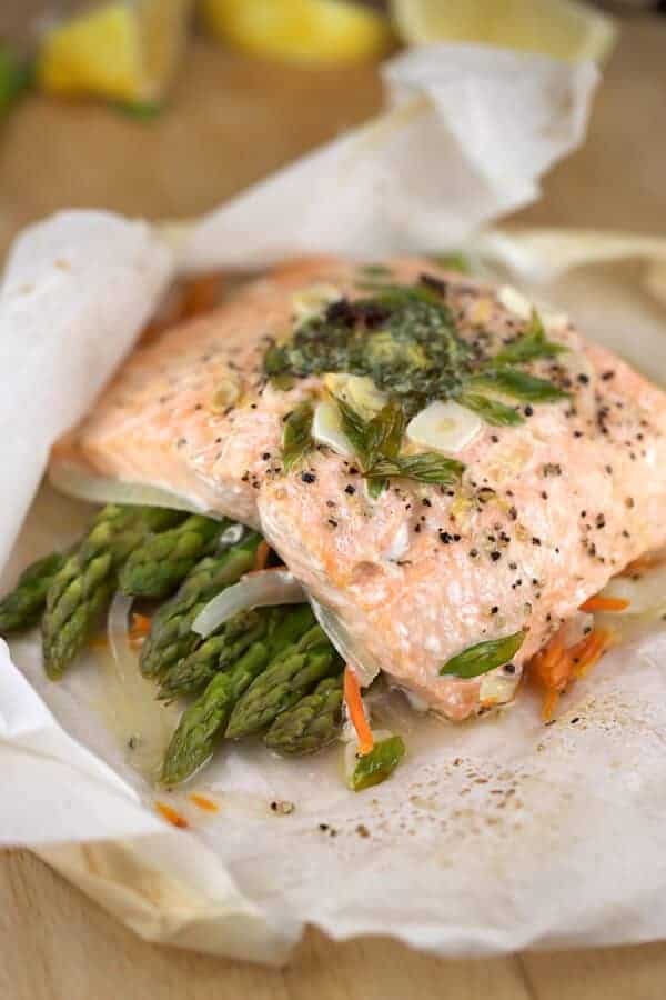 salmon oven roasted in a bag
