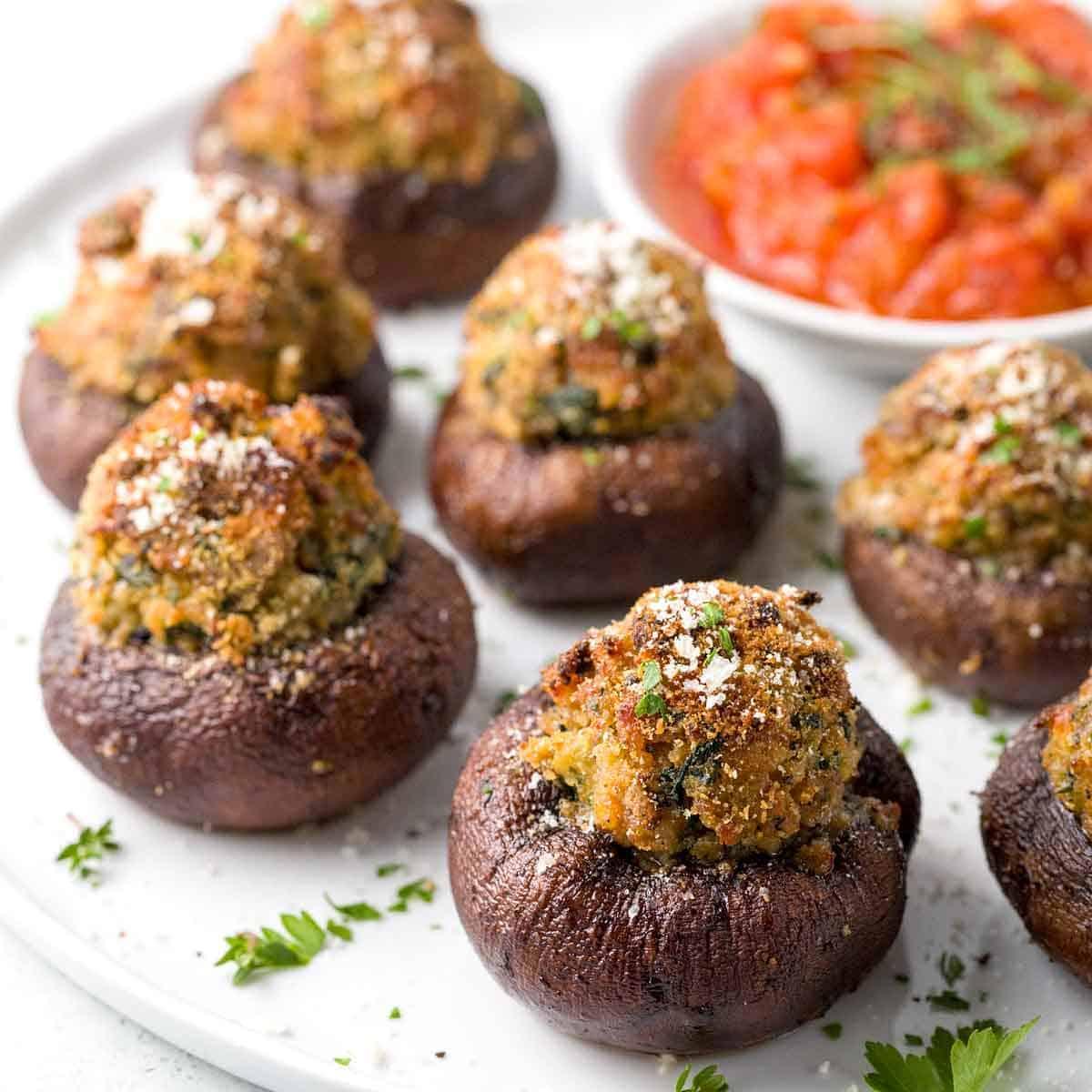 Stuffed Mushrooms Recipe with Italian Sausage | Jessica Gavin