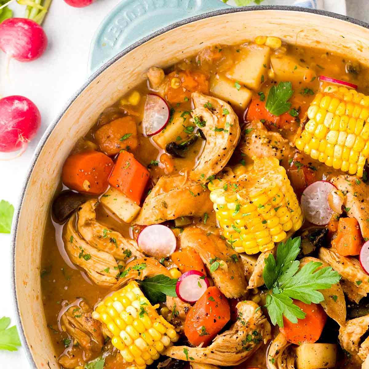 Beer-braised Chicken Stew with Vegetables | Jessica Gavin