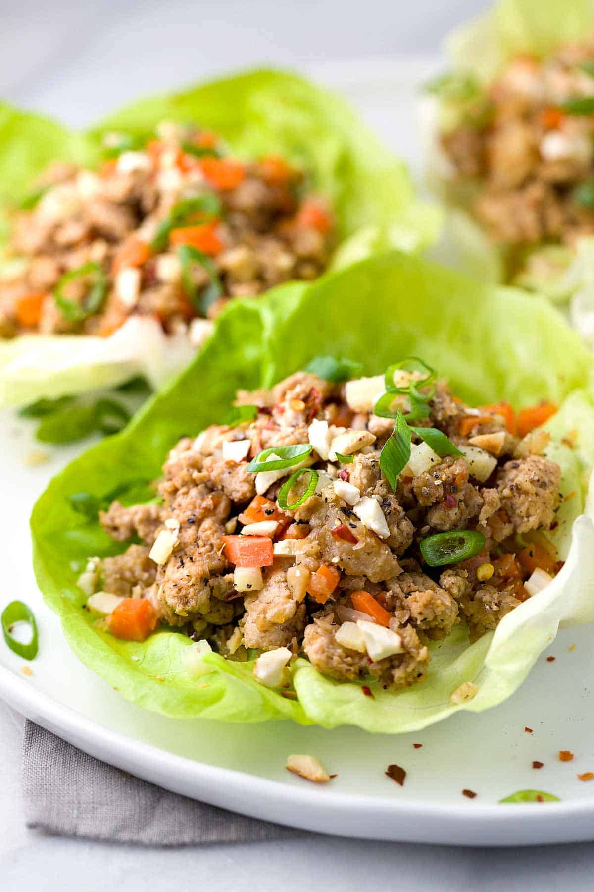 Chinese Lettuce Wraps With Ground Turkey Jessica Gavin