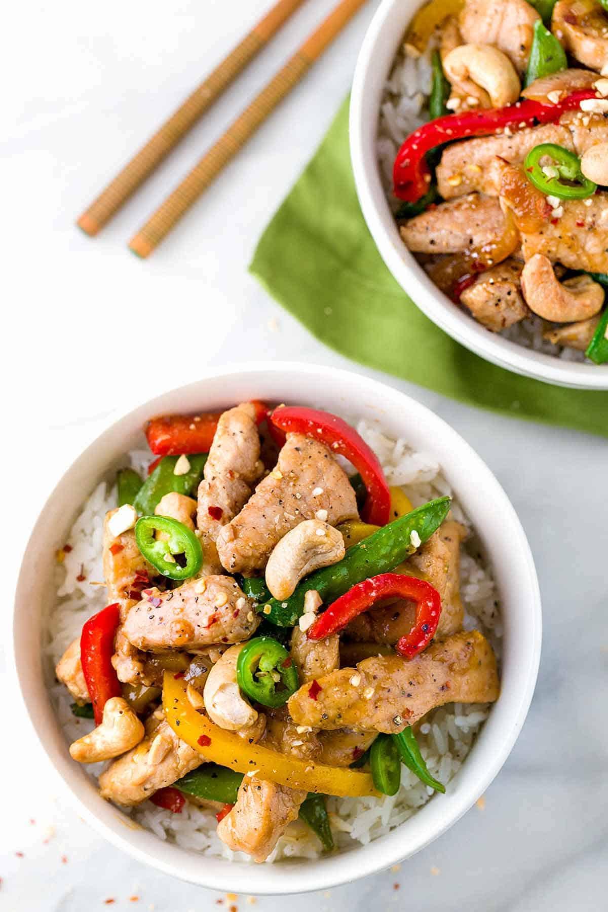 Pork Stir-Fry with Sugar Snap Peas