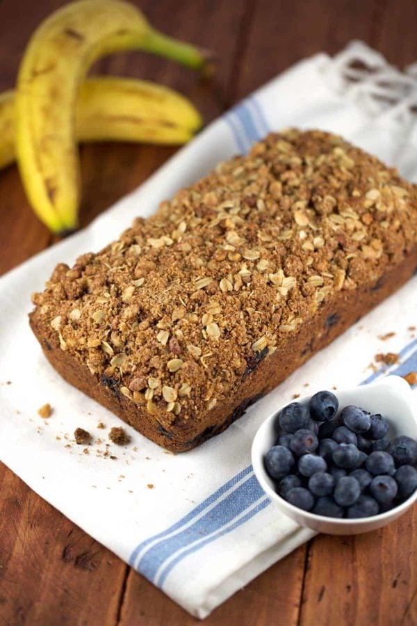 Whole Wheat Vegan Blueberry Banana Bread