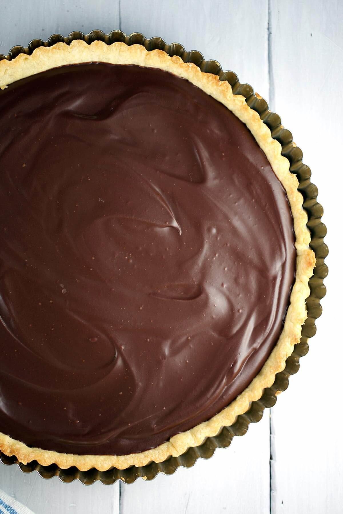Dark Chocolate Salted Caramel Tart Recipe   Jessica Gavin