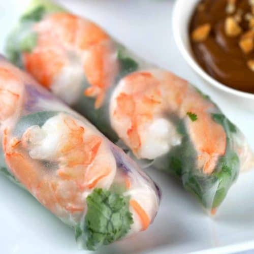Shrimp Spring Rolls With Peanut Dipping Sauce Jessica Gavin