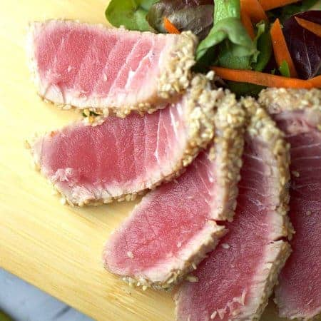 Ahi Tuna with Soy Ginger Lime Sauce
