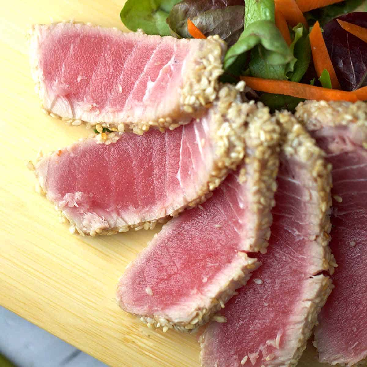 Ahi Tuna With Soy Ginger Lime Sauce Jessica Gavin