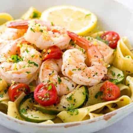 Shrimp Pasta with Lemon Garlic Sauce