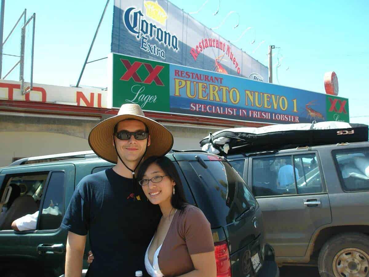 Jason and Jessica in Puerto Neuvo, Baja circa 2007