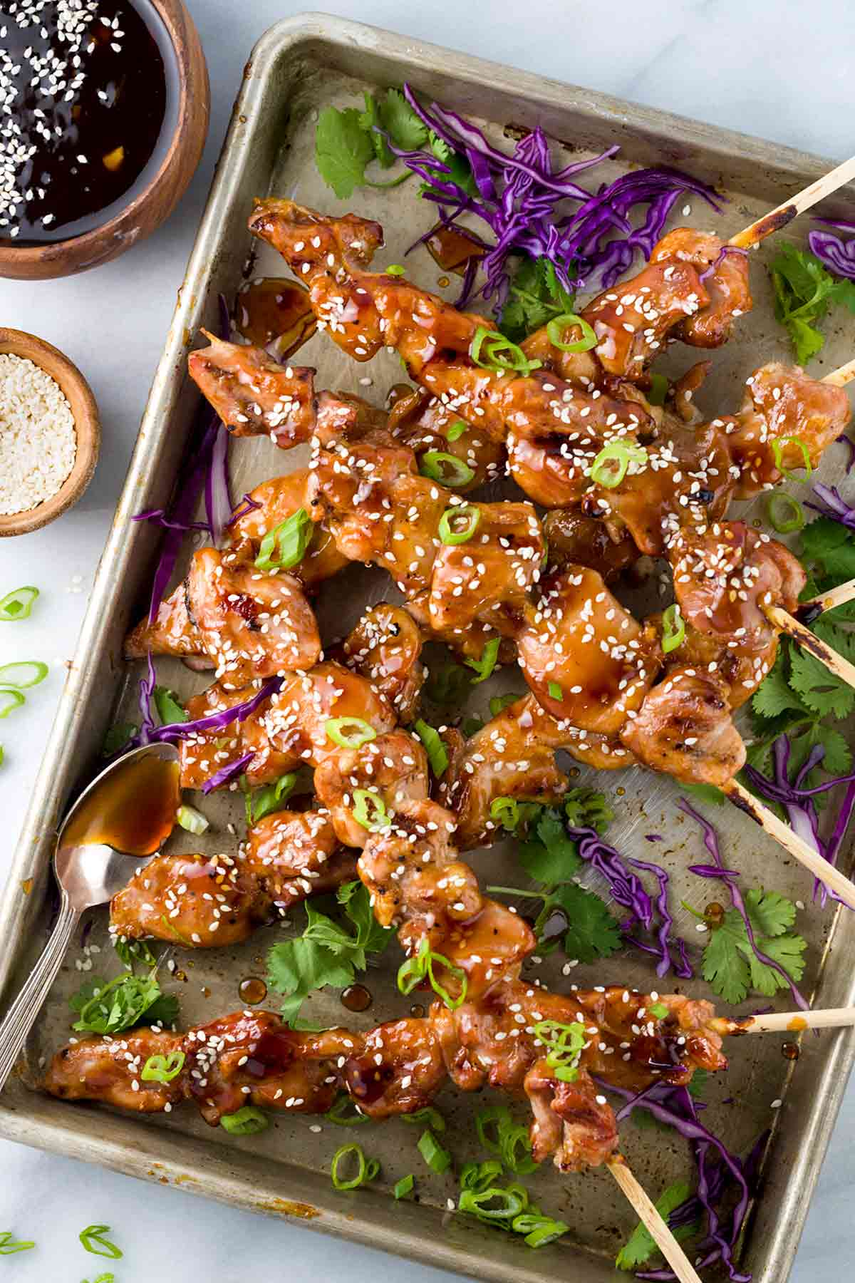 Easy japanese chicken yakitori recipe jessica gavin chicken yakitori is an easy japanese grilled recipe served on skewers the meat is basted forumfinder Choice Image