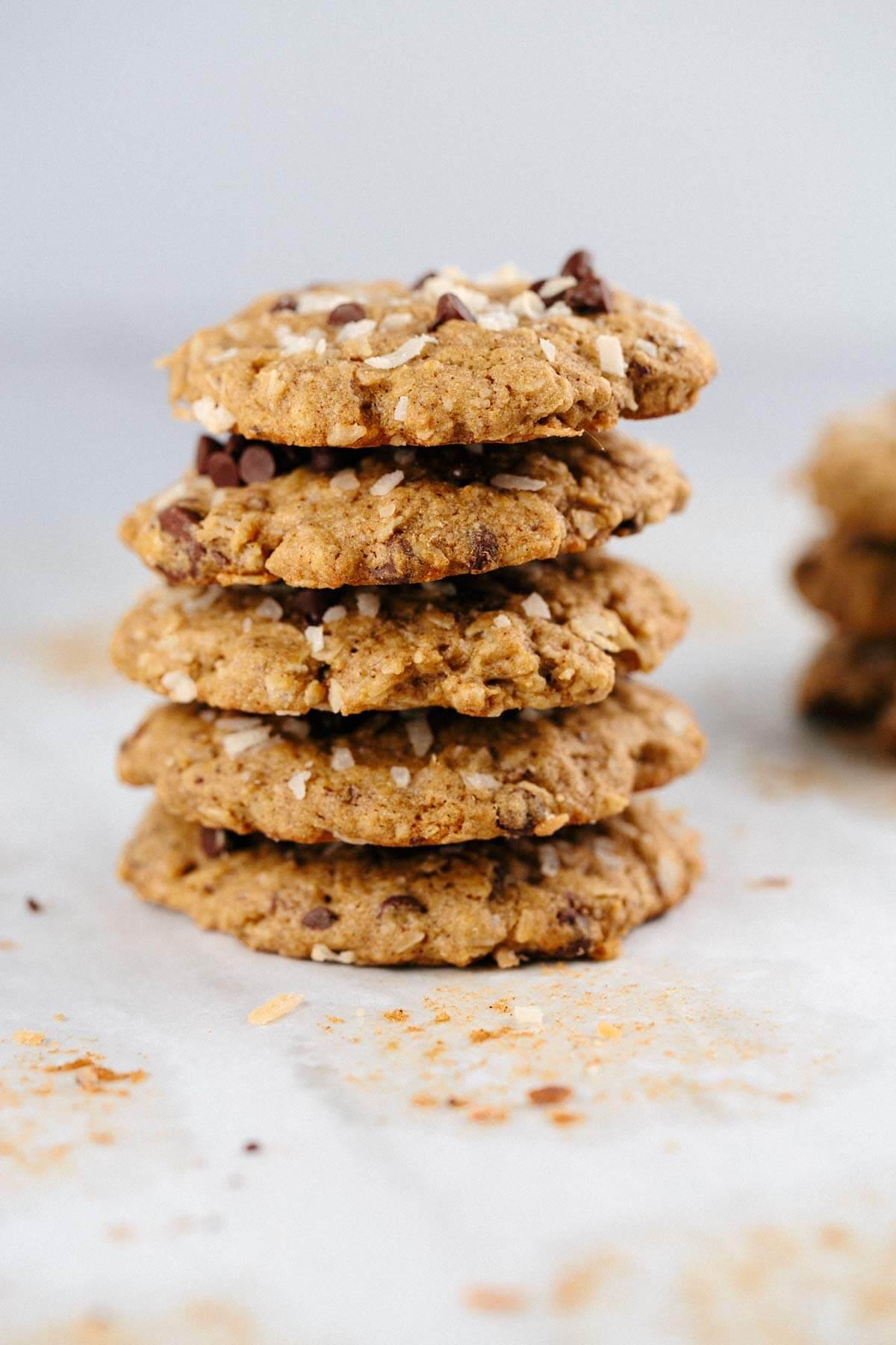 Oatmeal Chocolate Chip Coconut Lactation Cookies | Jessica Gavin