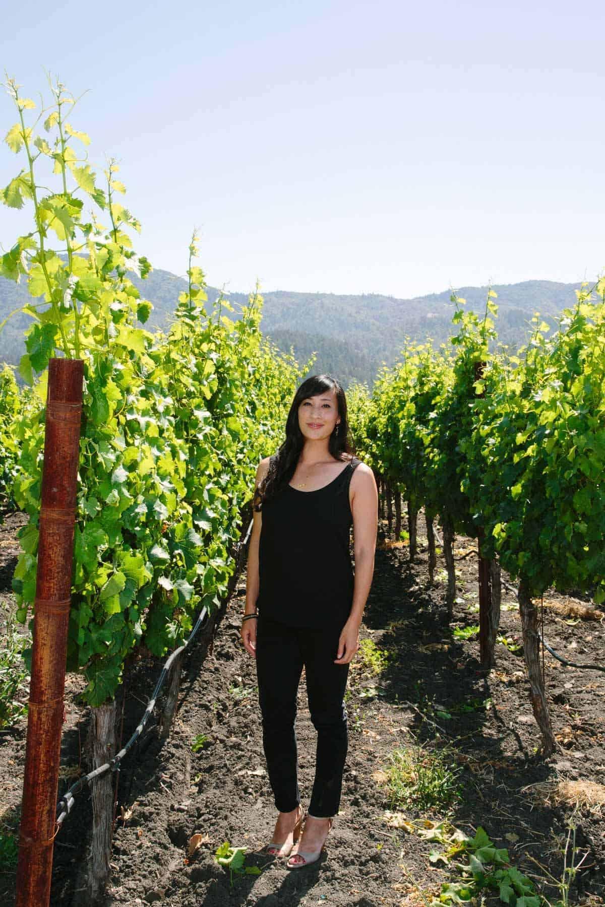 jessica in the vineyard