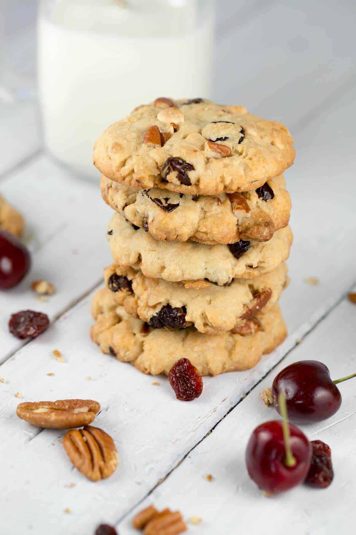 White Chocolate Cherry Pecan Cookies Recipe | Jessica Gavin