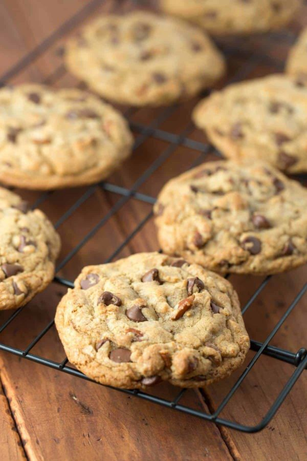 Browned Butter Chocolate Pecan Cookies