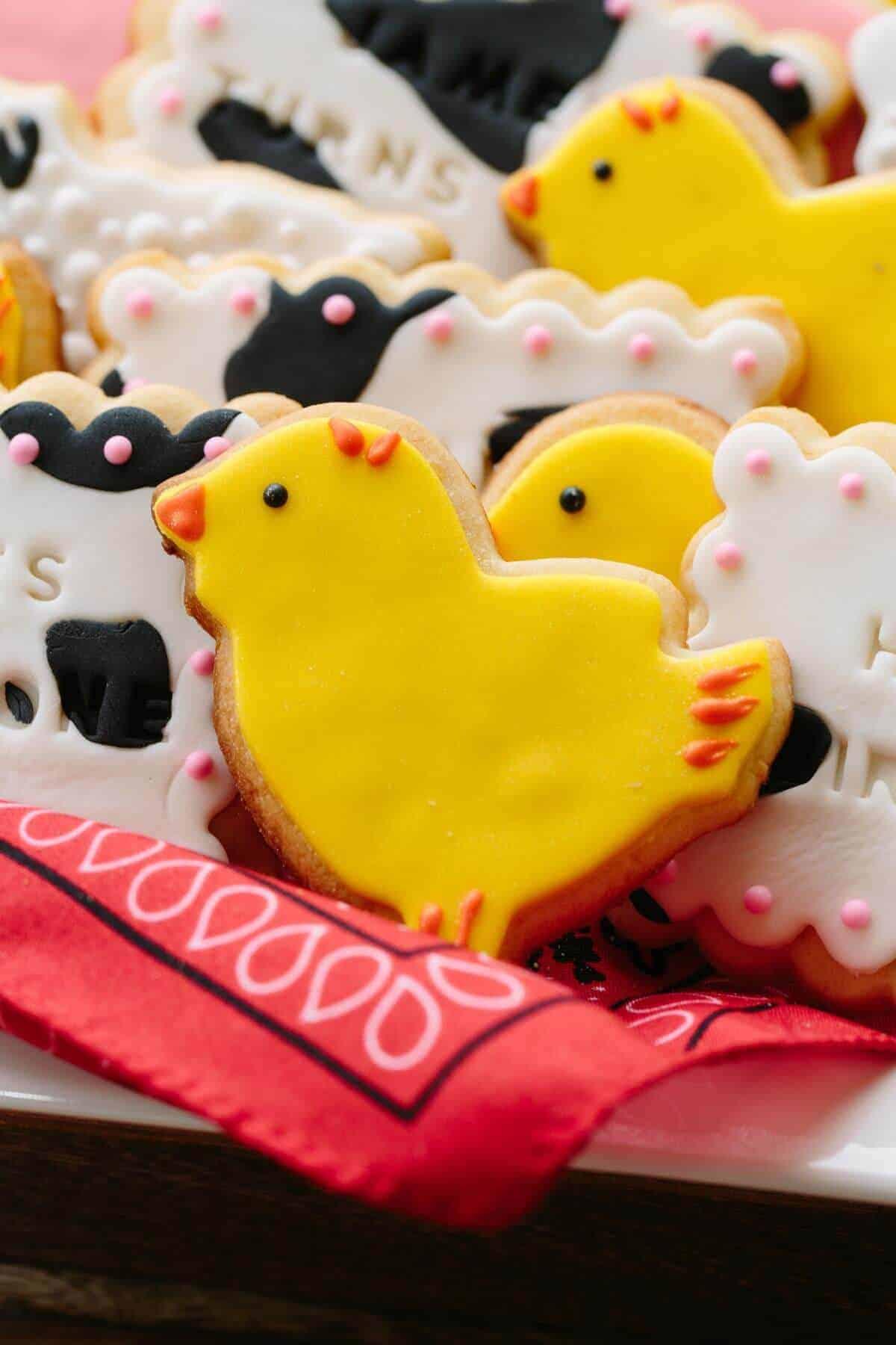 james-1st-bday-chicken-cookie
