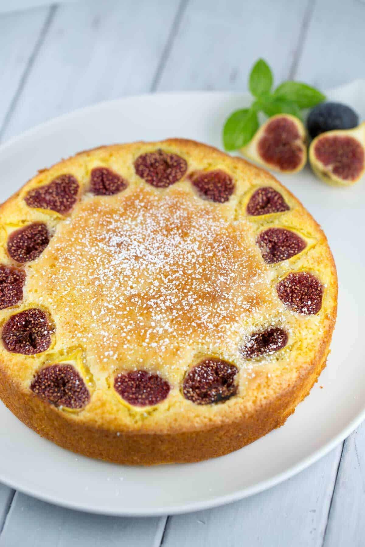 Citrus Polenta Cake with Fig Caramel Sauce | jessicagavin.com