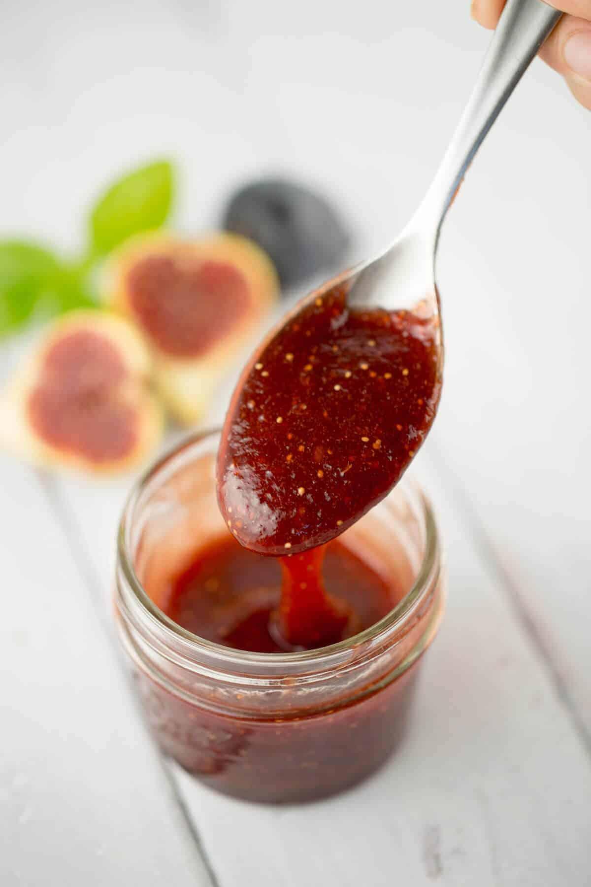 Citrus Polenta Cake with homemade Fig Caramel Sauce | jessicagavin.com