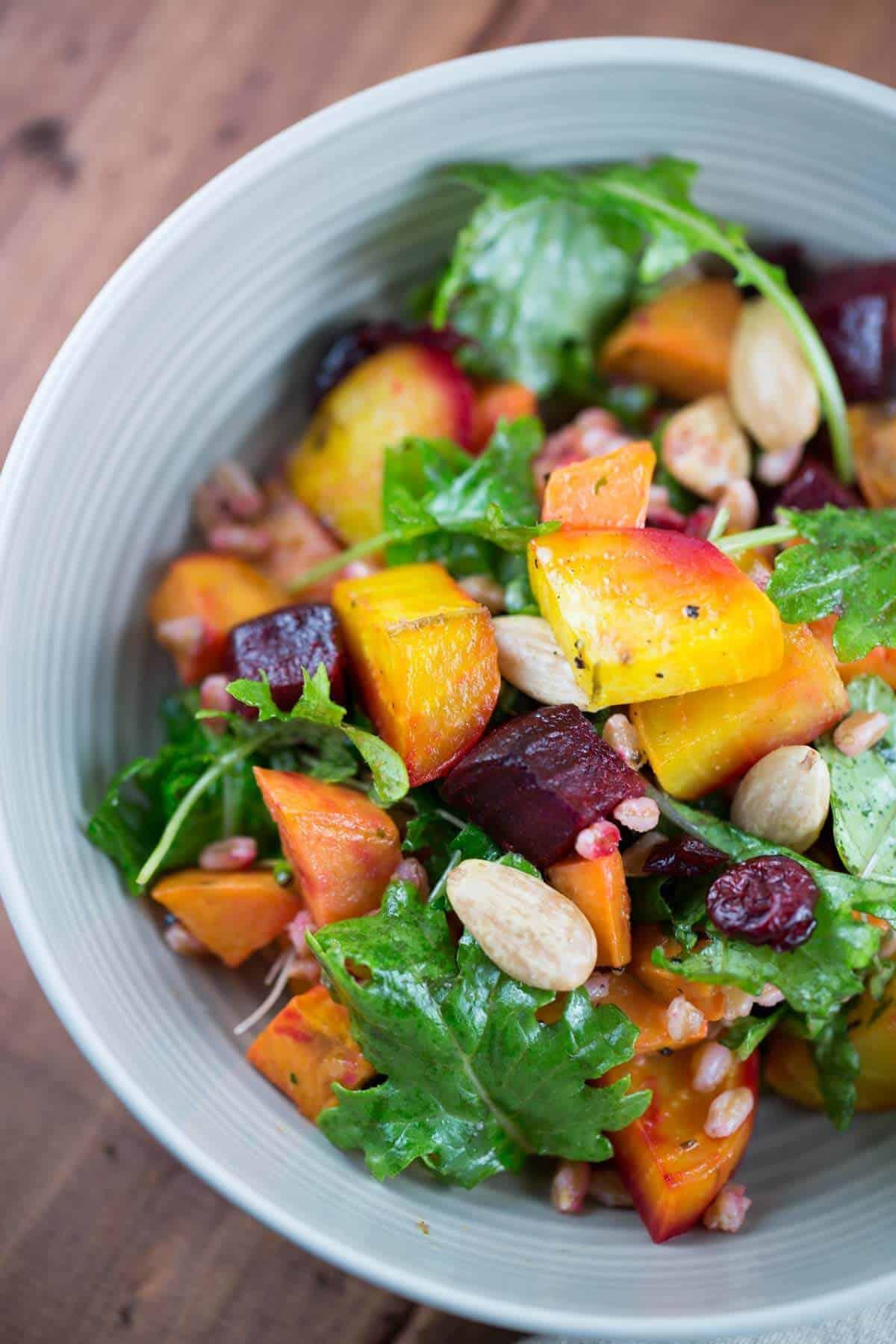 Apple, Almond, And Smoked Mozzarella Farro Salad Recipe ...