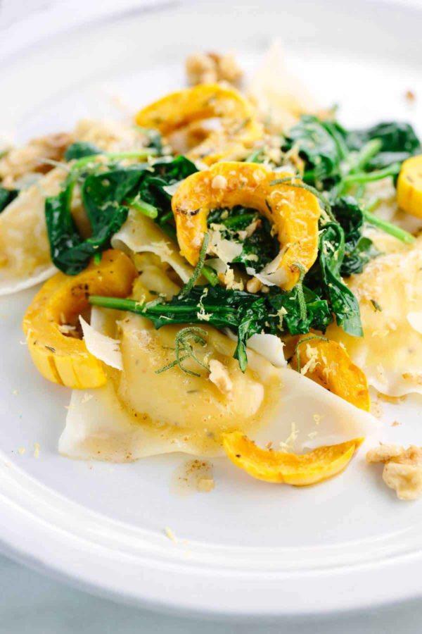 Delicata Squash Ravioli with Butter Sage Sauce