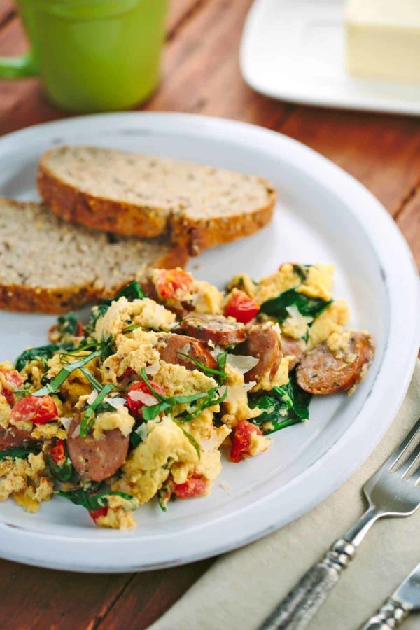 Easy Breakfast Scramble with Italian Sausage