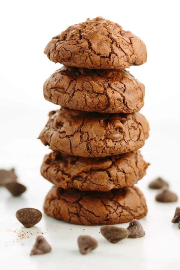 five cookies stacked on top of one another