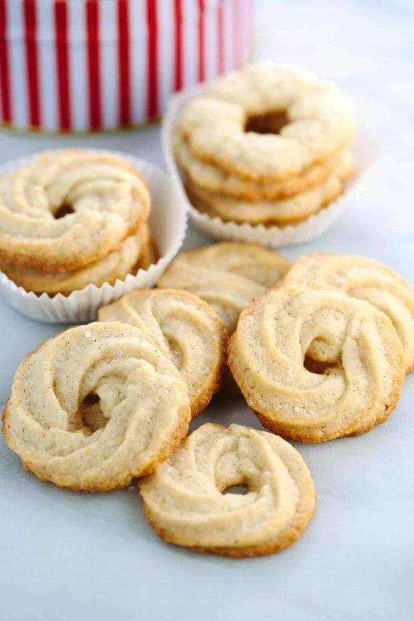 several danish butter cookies