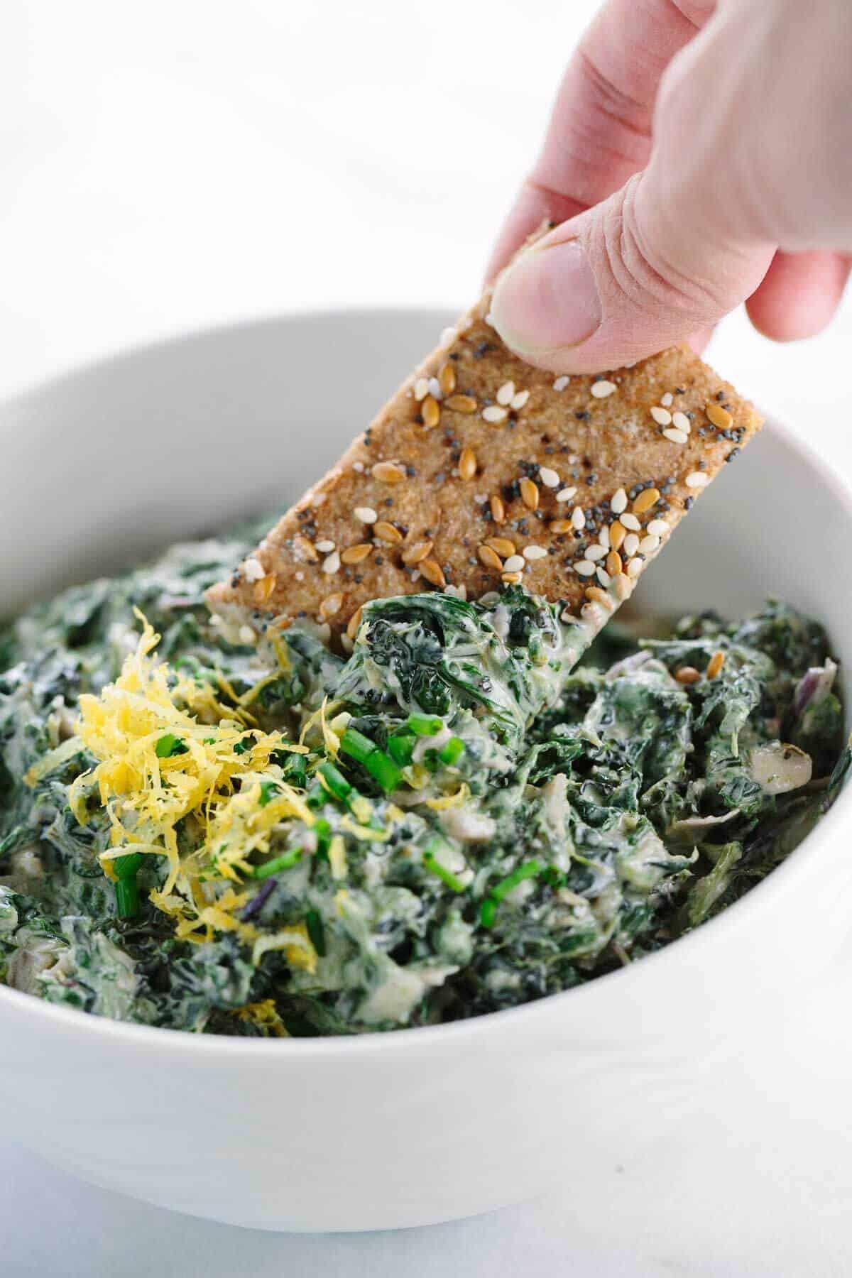 Spinach Kale Yogurt Dip