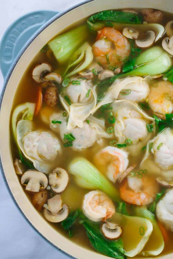 Easy Homemade Wonton Soup Recipe