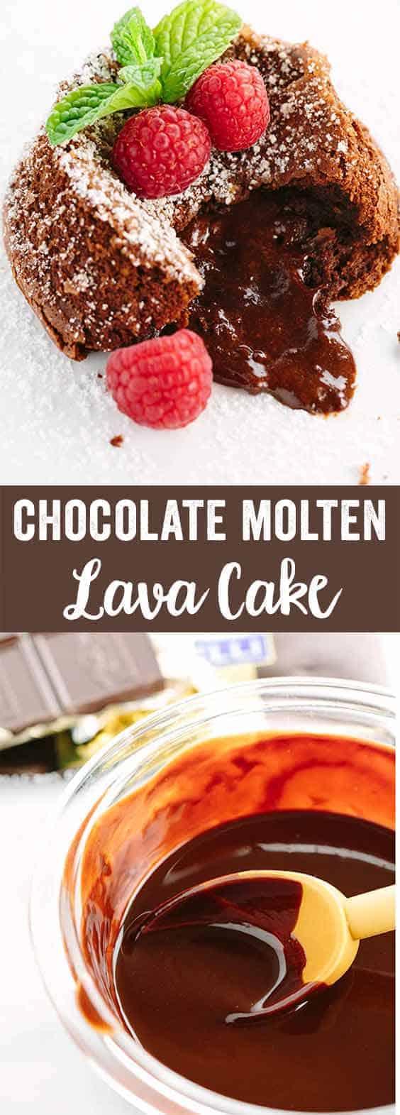Classic Chocolate Molten Lava Cake with Raspberries | Jessica Gavin